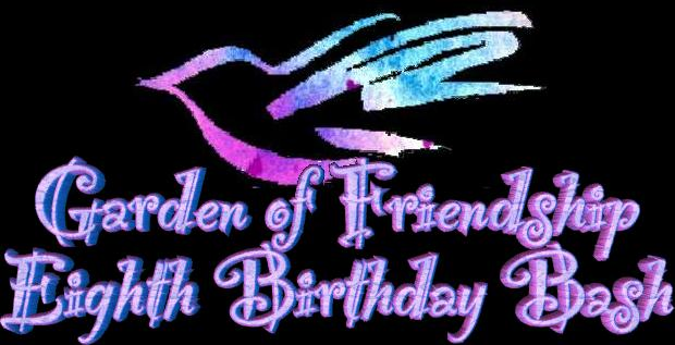 Peace Seed GOF Birthday Bash title graphic